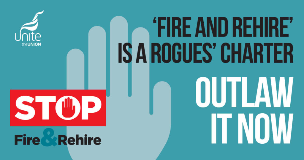 Fire and rehire is a rouges charter